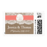 The Coral Sand Dollar Beach Wedding Collection Postage Stamp