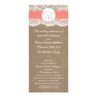 The Coral Sand Dollar Wedding Collection Programs