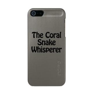 the coral snake whisperer metallic iPhone SE/5/5s case