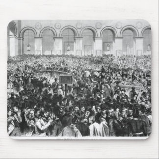 The 'Corbeille' at the Bourse of Paris, 1873 Mouse Pad