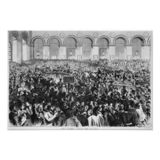 The 'Corbeille' at the Bourse of Paris, 1873 Poster