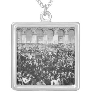 The 'Corbeille' at the Bourse of Paris, 1873 Silver Plated Necklace