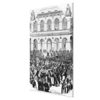 The 'Corbeille' at the Paris Bourse, 1873 Gallery Wrap Canvas