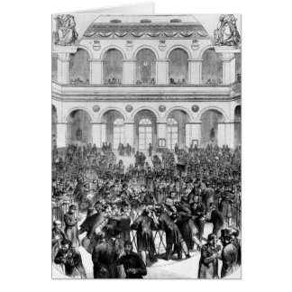 The 'Corbeille' at the Paris Bourse, 1873 Cards