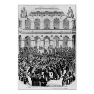 The 'Corbeille' at the Paris Bourse, 1873 Poster