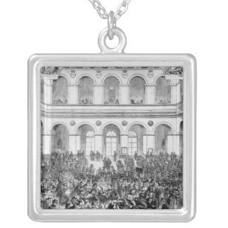 The 'Corbeille' at the Paris Bourse, 1873 Silver Plated Necklace
