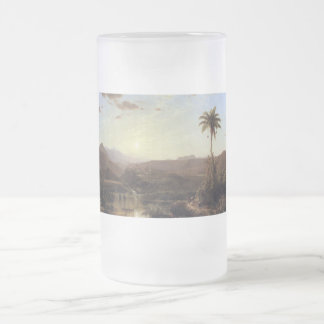 The Cordilleras Sunrise by Frederick Edwin Church Frosted Glass Beer Mug