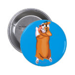 The Corgi Sploot Pinback Button