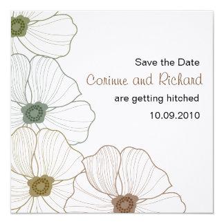 The Corinne Save the Date 5.25x5.25 Square Paper Invitation Card