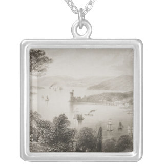 The Cork River from below Glanmire Road Silver Plated Necklace