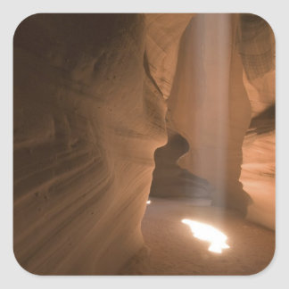 The Corkscrew in Upper Antelope Canyon, Navajo 2 Square Sticker
