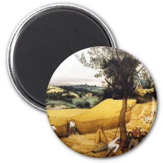 The Corn Harvest - 1565 2 Inch Round Magnet