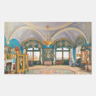 The Corner Drawing-Room of Emperor Nicholas I Rectangular Sticker