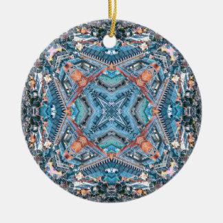 The Corner of Octahedron City Ceramic Ornament