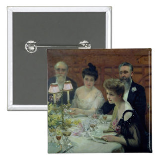 The Corner of the Table, 1904 Pinback Button