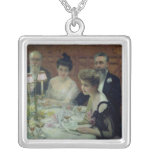 The Corner of the Table, 1904 Square Pendant Necklace
