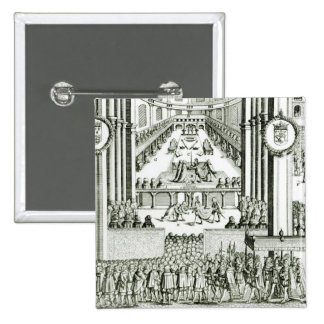 The Coronation of Charles I 2 Inch Square Button