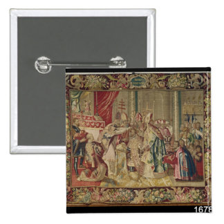 The Coronation of Charles V 2 Inch Square Button