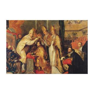 The Coronation of Charles V  Holy Roman Emperor Canvas Print
