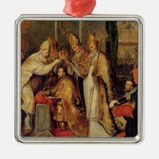 The Coronation of Charles V  Holy Roman Emperor Metal Ornament
