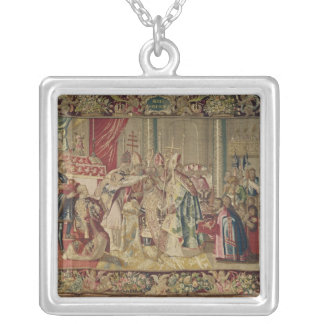 The Coronation of Charles V Silver Plated Necklace