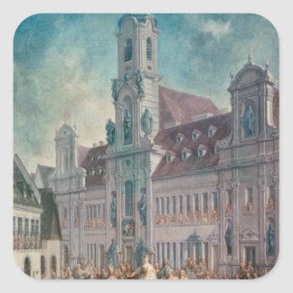 The Coronation of Empress Square Sticker