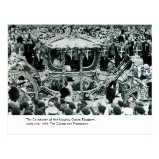 The Coronation of H.M. Queen Elizabeth Postcard