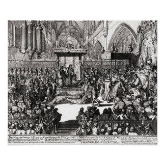 The Coronation of King George I Poster