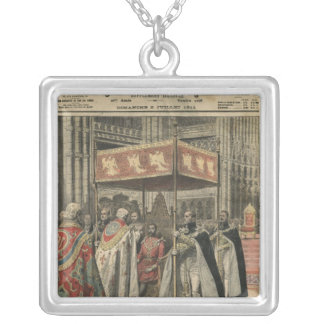The Coronation of King George V Silver Plated Necklace