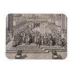 The Coronation of King James II (1633-1701) and hi Rectangle Magnet
