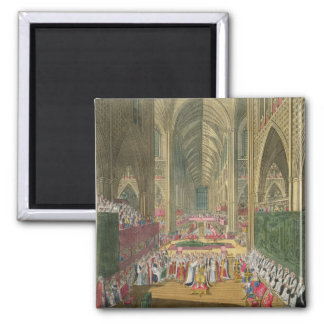 The Coronation of King James II (1633-1701) from a 2 Inch Square Magnet