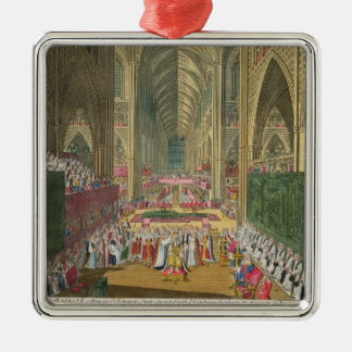 The Coronation of King James II (1633-1701) from a Metal Ornament