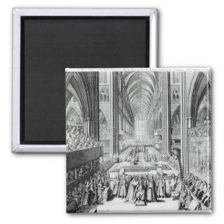 The Coronation of King James II  c.1685 Magnet