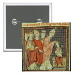 The coronation of Louis I 'the Pious' 2 Inch Square Button