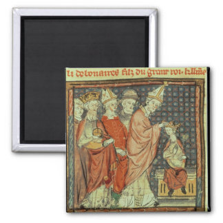 The coronation of Louis I 'the Pious' Magnet