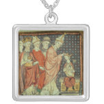 The coronation of Louis I 'the Pious' Square Pendant Necklace