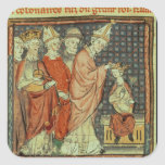 The coronation of Louis I 'the Pious' Square Sticker