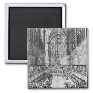 The Coronation of Louis XIV in Reims cathedral Magnet