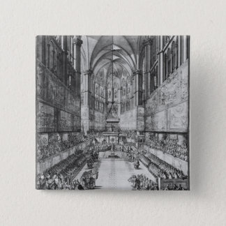 The Coronation of Louis XIV in Reims cathedral Pinback Button