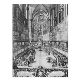 The Coronation of Louis XIV in Reims cathedral Postcard