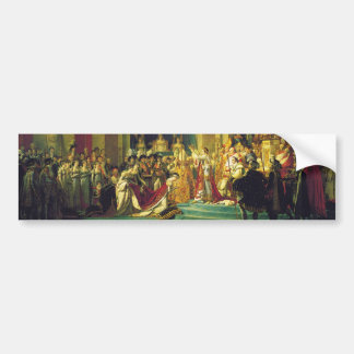 The Coronation of Napoleon by Jacques Louis David Bumper Sticker