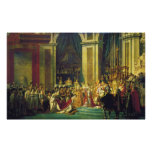 The Coronation of Napoleon by Jacques Louis David Posters