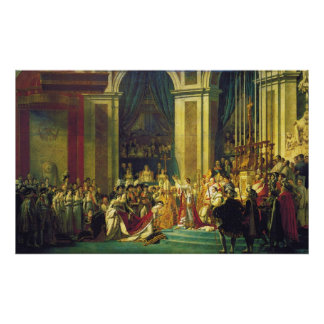 The Coronation of Napoleon by Jacques Louis David Poster