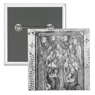 The Coronation of Richard II 2 Inch Square Button