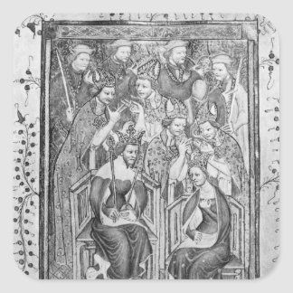 The Coronation of Richard II Square Sticker