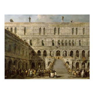 The Coronation of the Doge of Venice Postcard