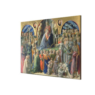 The Coronation of the Virgin, 1441-7 (tempera on p Gallery Wrapped Canvas