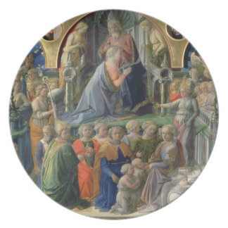 The Coronation of the Virgin, 1441-7 (tempera on p Plate