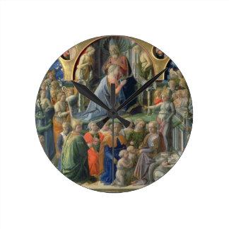 The Coronation of the Virgin, 1441-7 (tempera on p Round Clock