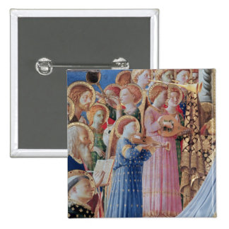 The Coronation of the virgin 2 Inch Square Button